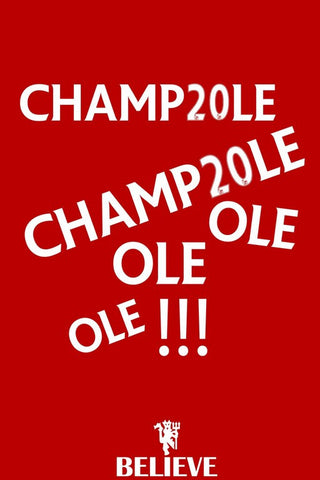 PosterGully Specials, Champ20le Ole Ole | Believe, - PosterGully