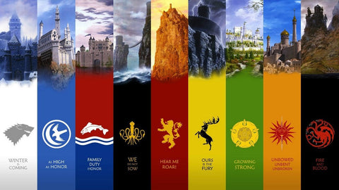 PosterGully Specials, Game Of Thrones Various Kingdoms, - PosterGully