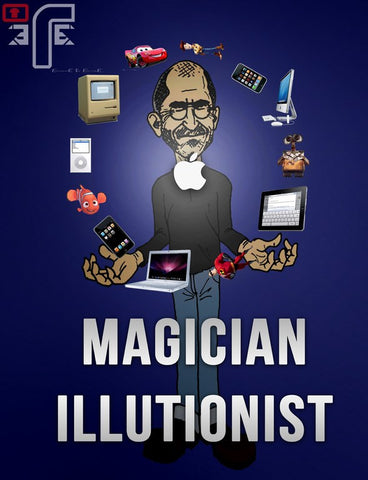PosterGully Specials, Magician Illusionist | Steve Jobs, - PosterGully