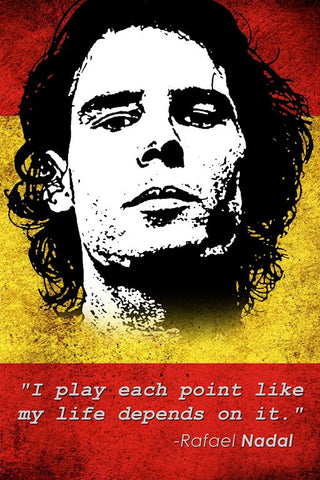 Wall Art, Rafael Nadal Quote, - PosterGully