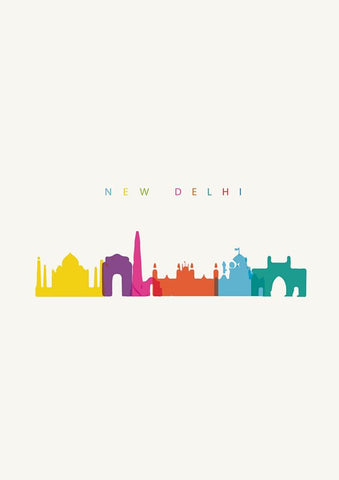 Wall Art, Capital New Delhi India Minimal Art, - PosterGully