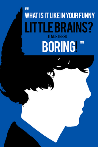 Wall Art, Sherlock Holmes | Funny Little Brains, - PosterGully