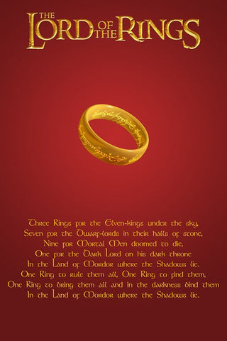 Wall Art, Lord Of The Rings Quotation, - PosterGully