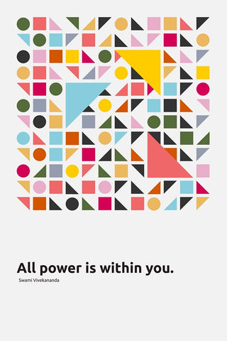 Wall Art, All Power Is Within You | Swami Vivekananda Quote, - PosterGully