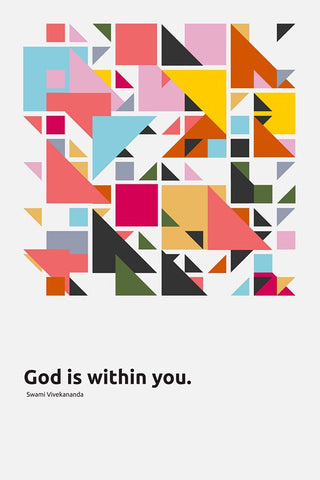 Wall Art, God Is Within You | Swami Vivekananda Quote, - PosterGully
