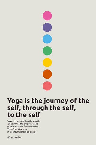 Wall Art, Inspirational Yoga Quote | Bhagavad Gita, - PosterGully