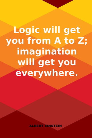 Wall Art, Logic Vs Imagination | Albert Einstein Quote, - PosterGully