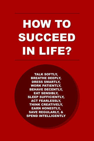 Wall Art, How To Succeed In Life?, - PosterGully