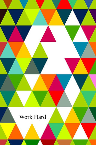 Wall Art, Work Hard Minimal Art, - PosterGully