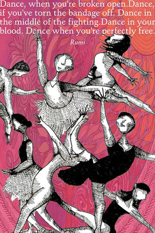 PosterGully Specials, Dance Off The Life | Quote Rumi, - PosterGully