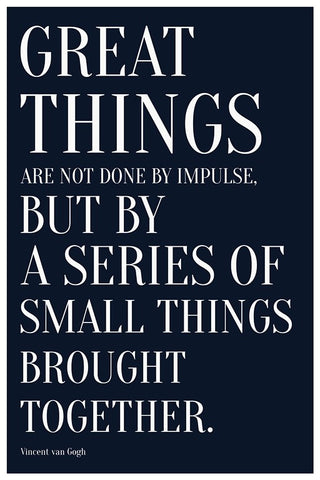 Wall Art, Great Things | Quote Vincent Van Gogh, - PosterGully