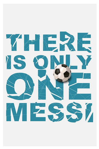 Wall Art, There Is Only One Messi, - PosterGully