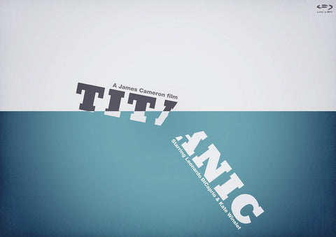 PosterGully Specials, Titanic Minimal Art, - PosterGully