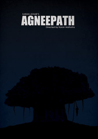 PosterGully Specials, Agneepath Minimal Art, - PosterGully