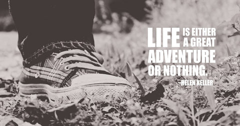 PosterGully Specials, Life Is Adventure Or Nothing | Helen Keller, - PosterGully
