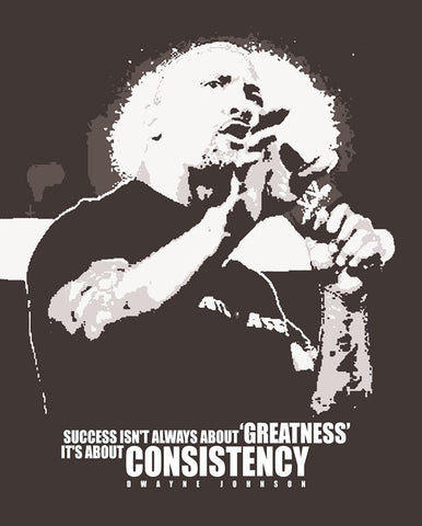 PosterGully Specials, Success Is Consistency | Dwayne Johnson, - PosterGully