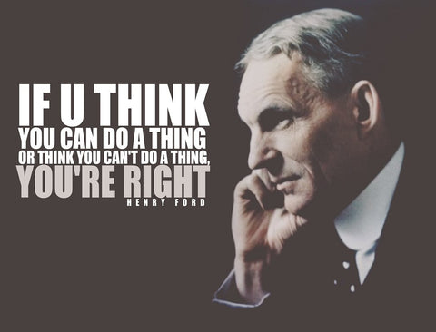 PosterGully Specials, Henry Ford Quote | You Are Right, - PosterGully