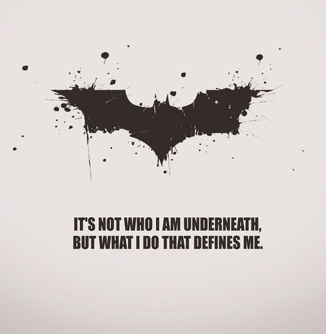 PosterGully Specials, Batman Quote | What I Do Defines Me, - PosterGully