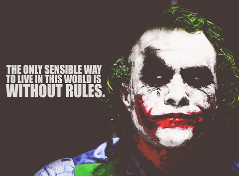 PosterGully Specials, Joker Quote | Without Rules, - PosterGully