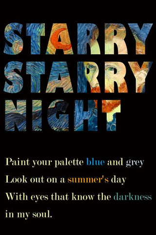 PosterGully Specials, Starry Starry Night | Vincent Vangogh, - PosterGully