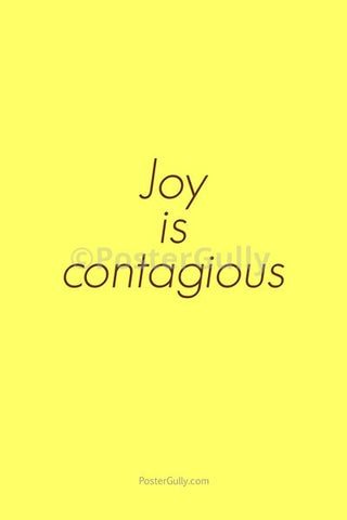 Wall Art, Joy Is Contagious, - PosterGully
