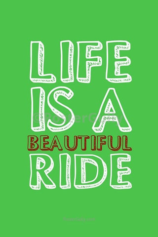 Wall Art, Life Is A Beautiful Ride, - PosterGully