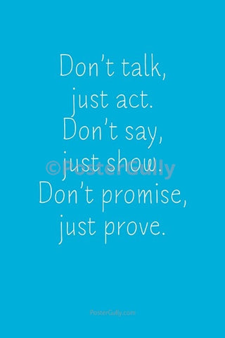 Wall Art, Prove Your Promise, - PosterGully