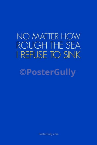 Wall Art, Refuse To Sink, - PosterGully