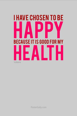 Wall Art, Be Happy. Be Healthy., - PosterGully