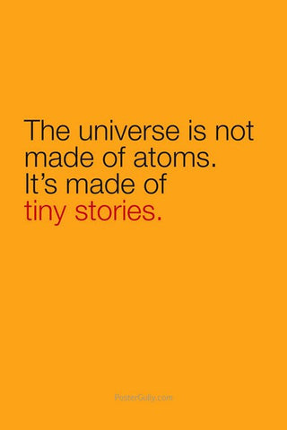 Wall Art, Universe Is Made Of Tiny Stories, - PosterGully
