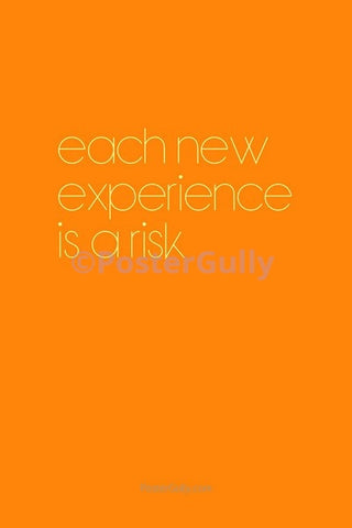 Wall Art, Experience Is A Risk, - PosterGully