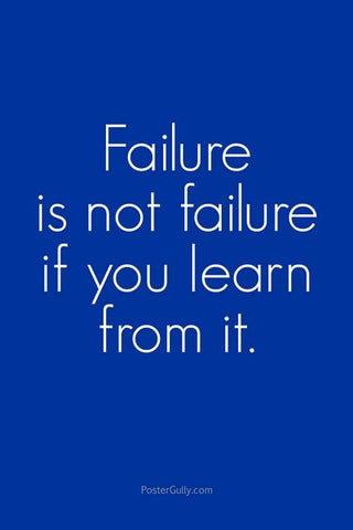 Wall Art, Learn From Failure, - PosterGully