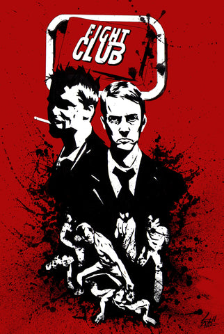 PosterGully Specials, Fight Club | Black Splash, - PosterGully