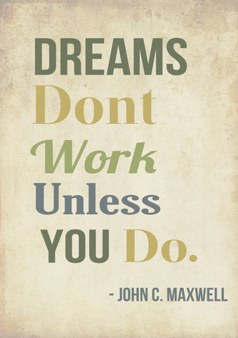 PosterGully Specials, Work Hard | Maxwell Quote, - PosterGully