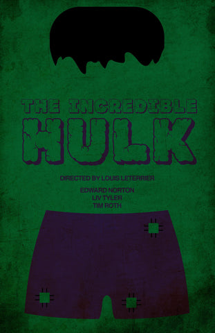 PosterGully Specials, The Incredible Hulk | Minimalism, - PosterGully