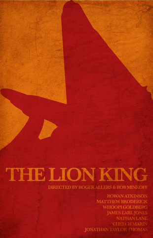 PosterGully Specials, The Lion King | Minimal Art Grainy, - PosterGully