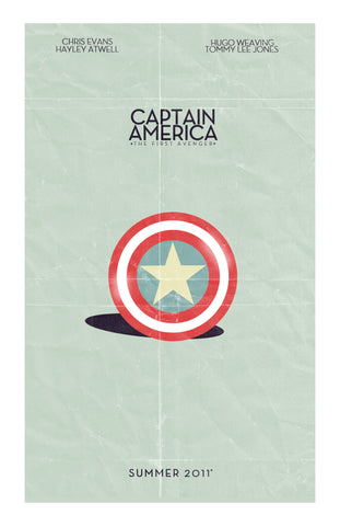 PosterGully Specials, Captain America | Minimal Artwork, - PosterGully