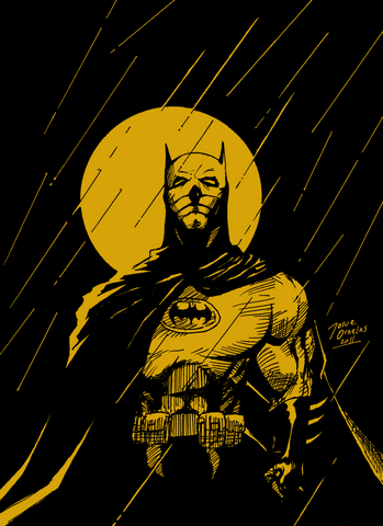 PosterGully Specials, Batman | Rain Sketch, - PosterGully