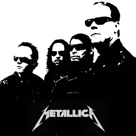 PosterGully Specials, Metallica | Black & White Art, - PosterGully