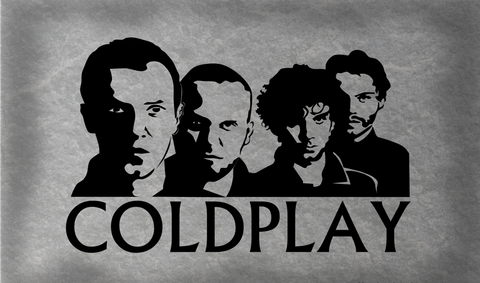 PosterGully Specials, Coldplay | Caricature Artwork, - PosterGully