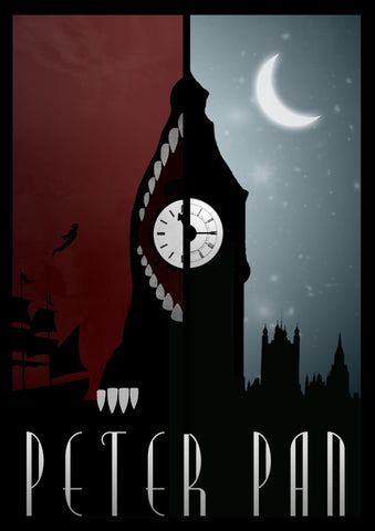 PosterGully Specials, Peter Pan | Minimal Art, - PosterGully