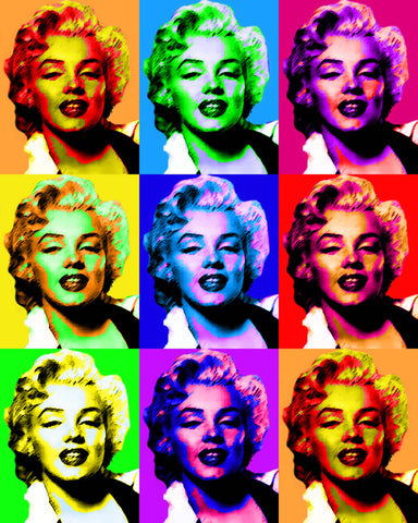 PosterGully Specials, Marilyn Monroe | Retro Pop Art, - PosterGully