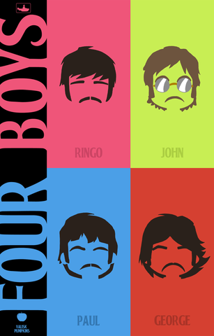 PosterGully Specials, The Beatles | Four Boys, - PosterGully
