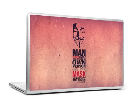 Laptop Skins, Oscar Wilde & V For Vendetta | Laptop Skin, - PosterGully
