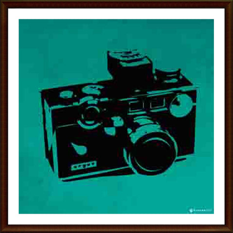 Yash Raj, Vintage Camera - Blue, - PosterGully