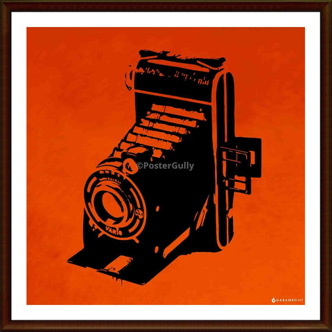 Yash Raj, Vintage Camera - Orange, - PosterGully