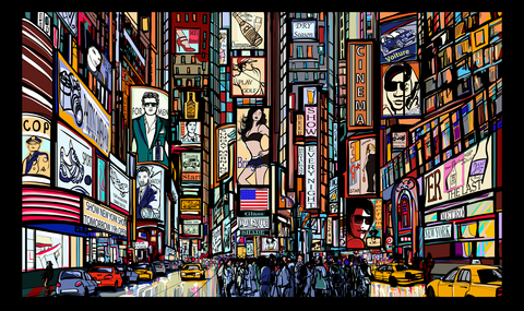 Yash Raj, New York Illustration, - PosterGully