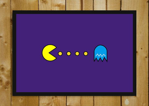 Glass Framed Posters, Pacman Purple Glass Framed Poster, - PosterGully - 1