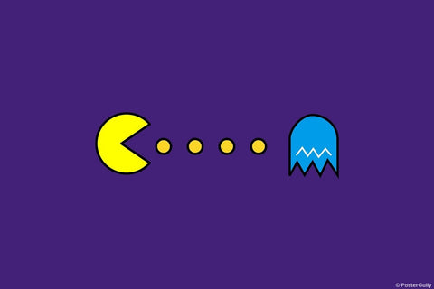 Wall Art, Pacman Purple, - PosterGully
