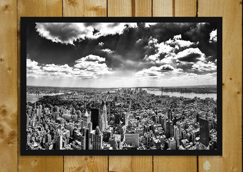 Glass Framed Posters, Panorama of Manhattan from Empire State Building Glass Framed Poster, - PosterGully - 1